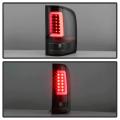 Spyder Black Fiber Optic LED Tail Lights | 2007-2014 Chevy Silverado | Dale's Super Store