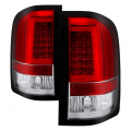 Chevrolet Silverado / GMC Sierra - 2007.5-2014 Chevrolet Silverado / GMC Sierra - Spyder - Spyder® Red/Clear Fiber Optic LED Tail Lights | 2007-2014 Chevy Silverado