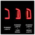 Spyder Black Fiber Optic LED Tail Lights   2002-2006 Dodge Ram   Dale's Super Store