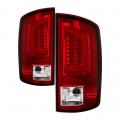 Lighting Products - Tail Lights - Spyder - Spyder® Red/Clear Fiber Optic LED Tail Lights | 2007-2009 Dodge Ram
