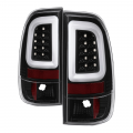 Lighting | Ford F250-F550  - Tail Lights For Ford F-250 to F-550  - Spyder - Spyder® Black Fiber Optic LED Tail Lights | 1999-2007 Ford Super Duty