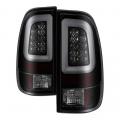 Lighting Products - Tail Lights - Spyder - Spyder® Black/Smoke Fiber Optic LED Tail Lights | 1999-2007 Ford Super Duty
