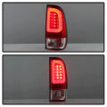 Spyder Red/Clear Fiber Optic LED Tail Lights | 1999-2007 Ford Super Duty | Dale's Super Store
