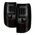 Lighting Products - Tail Lights - Spyder - Spyder® Black/Smoke Fiber Optic LED Tail Lights | 2004-2008 Ford F-150 Styleside