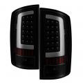 Lighting Products - Tail Lights - Spyder - Spyder® Black/Smoke Fiber Optic LED Tail Lights | 2002-2006 Dodge Ram