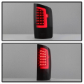 Spyder Black/Smoke Fiber Optic LED Tail Lights | 2002-2006 Dodge Ram | Dale's Super Store