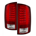 Spyder - Spyder® Red/Clear Fiber Optic LED Tail Lights | 2002-2006 Dodge Ram