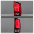 Spyder Red/Clear Fiber Optic LED Tail Lights | 2002-2006 Dodge Ram | Dale's Super Store