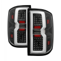 Lighting Products - Tail Lights - Spyder - Spyder® Black Fiber Optic LED Tail Lights | 2015-2018 Chevy Silverado/GMC Sierra