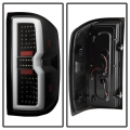 Spyder Black Fiber Optic LED Tail Lights | 2015-2018 Chevy Silverado/GMC Sierra | Dale's Super Store