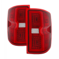 Chevrolet Silverado / GMC Sierra - 2007.5-2014 Chevrolet Silverado / GMC Sierra - Spyder - Spyder® Red/Clear Fiber Optic LED Tail Lights | ALT-ON-CS14-LBLED-RC | 2015+ Chevy Silverado/GMC Sierra