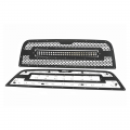Diesel Truck Parts - Rough Country - Rough Country Mesh Grille w/30-In Dual Row Black Series LED | 2013-2018 Ram 2500/3500