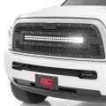Rough Country Mesh Grille w/30-In Dual Row Black Series LED | 2013-2018 Ram 2500/3500 | Dale's Super Store