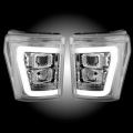 RECON Clear/Chrome Projector Headlights w/Ultra High Power OLED HALO'S & DRL | 2011-2016 Ford Super Duty | Dale's Super Store