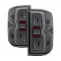 Lighting Products - Tail Lights - Spyder - Spyder® Chrome/Smoke Fiber Optic LED Tail Lights | 2015-2018 Chevy Silverado/GMC Sierra