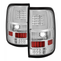 Ford F-150 Lighting Products - Ford F150 Tail Lights - Spyder - Spyder® Chrome Fiber Optic LED Tail Lights | 2004-2008 Ford F-150 Styleside