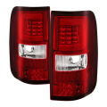 Ford F-150 Lighting Products - Ford F150 Tail Lights - Spyder - Spyder® Red/Clear Fiber Optic LED Tail Lights | 2004-2008 Ford F-150 Styleside