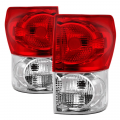 Toyota Tundra Page - Toyota Tundra Lighting Products - Spyder - Spyder® Chrome/Red Factory Style Tail Lights | 2007-2009 Toyota Tundra