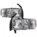 Lighting Products - Headlights & Bumper Lights - Spyder - Spyder® Chrome Factory Style Headlights w/Corner Lights | 1994-2002 Dodge Ram