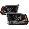 Lighting - Tail Lights - Spyder - Spyder® Black Factory Style Projector Headlights w/LED Turn Signal | 2013-2017 Dodge Ram