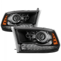 2009-2018 Dodge Ram - Dodge Ram 1500 Lighting Products - Spyder - Spyder® Black Factory Style Projector Headlights w/LED Turn Signal | 2013-2017 Dodge Ram