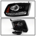 Spyder Black Factory Style Projector Headlights w/LED Turn Signal | 2013-2017 Dodge Ram | Dale's Super Store