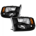 Lighting - Tail Lights - Spyder - Spyder® Black Factory Style Headlights | 2009-2017 Dodge Ram