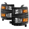 Spyder - Spyder® Black Factory Style Headlights | 2014-2015 Chevy Silverado 1500