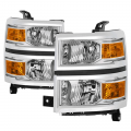 Lighting - Tail Lights - Spyder - Spyder® Chrome Factory Style Headlights | 2014-2015 Chevy Silverado 1500