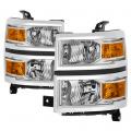 Lighting Products - Tail Lights - Spyder - Spyder® Chrome Factory Style Headlights | 2014-2015 Chevy Silverado 1500