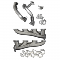 Diesel Truck Parts - PPE - PPE High Flow Exhaust Manifolds & Up Pipes Kit | 2002-2004 Chevy/GMC Duramax LB7 6.6L