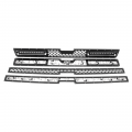 Diesel Truck Parts - Rough Country - Rough Country Mesh Grille w/12-in Black Series LED | 2011-2014 Chevy Silverado HD
