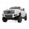 Rough Country Mesh Grille w/12-in Black Series LED | 2011-2014 Chevy Silverado HD | Dale's Super Store