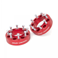 Diesel Truck Parts - Rough Country - Rough Country 2in Wheel Spacers (Red) | 2003-2018 Ford Super Duty