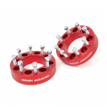 Diesel Truck Parts - Rough Country - Rough Country 2in Wheel Spacers (Red) | 01-10 Chevy/GMC, 12-14 Ram 2500/3500