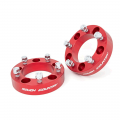 Suspension & Steering - Suspension Lift Kits - Rough Country - Rough Country 1.5in Wheel Spacers (Red) | 1976-1986 Jeep CJ5/CJ7/CJ8