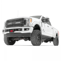Rough Country Mesh Grille w/Dual 12in Black Series LED's | 2017-2018 Ford Super Duty 2WD/4WD | Dale's Super Store
