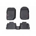 Jeep Parts - Jeep Wrangler Parts - Rough Country - Rough Country Heavy Duty Fitted Floor Mats (Front/Rear) | 2018 Jeep Wrangler JL Unlimited