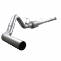 "Exhaust Systems - Full Exhaust Systems - aFe Power - aFe Power ATLAS 4"" Aluminized Downpipe w/Muffler 