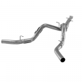 "Flo~Pro - Flo~Pro 4"" Aluminized CAT-Back Dual Exhaust w/NO Muffler 