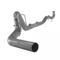 "Flo~Pro - Flo~Pro 4"" Aluminized Downpipe Back Exhaust No Muffler, No Bungs 