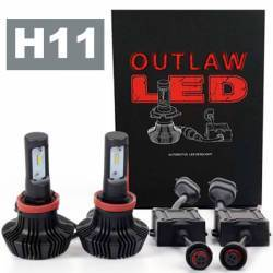 OUTLAW Lighting - LED Headlight Kits by Bulb Size - H11 Headlight Kits