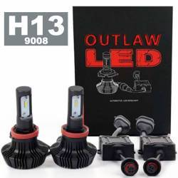 OUTLAW Lighting - LED Headlight Kits by Bulb Size - H13 (9008) Headlight Kits