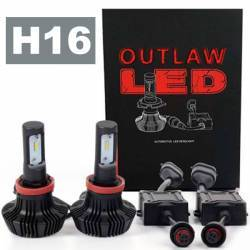 OUTLAW Lighting - LED Headlight Kits by Bulb Size - H16 Fog Light Kits