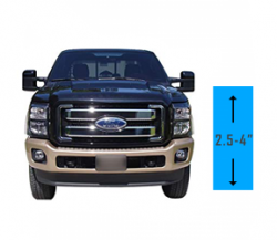 "2.5"" - 4"" Lift 