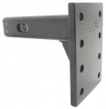 "Convert-A-Ball  - Convert-A-Ball Cushioned Adjustable Pintle Mounting Bar for 2"" Hitches - 8 Holes - 10,000 lbs 