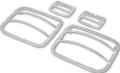 Exterior - Headlight Guards - Rugged Ridge - Rugged Ridge Euro Guard Set Stainless Steel 1987-1995 Jeep YJ Wrangler