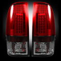 Lighting | Ford F250-F550  - Tail Lights For Ford F-250 to F-550  - RECON - RECON 264176RBK | LED Tail Lights - DARK RED SMOKED (2008-2016 Ford Superduty F250 - 650)