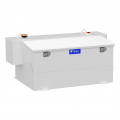 Fuel Tank Replacements and Auxiliary - Toolbox & Fuel Tank Combo - UWS Truck Accessories - UWS Hammerhead 100Gal Combo Transfer Tank (White) | ST-100HH-CB-W | Multi-Vehicle Fitment