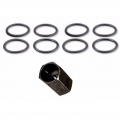 Diesel Truck Parts - Ford Powerstroke Parts - Outlaw Diesel - High-Pressure Oil Rail Ball Tube Seal Kit and Tool | 2003-2010 Ford Powerstroke 6.0/6.4L